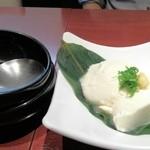 旬味美酒 松江駅前四季庵 - おぼろ豆腐の冷奴 ¥500