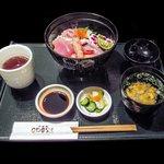 阿波膳ODORI - 阿波海鮮丼一式