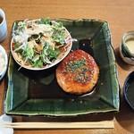 51139579 - ランチ:週替わり定食(鳥つくねのハンバーグ)