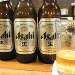 茶房 ヒロシゲ - 大好きなビール!大瓶というのがまた◎