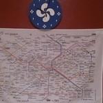 51143681 - 何故かパリ市内の路線図がトイレに。