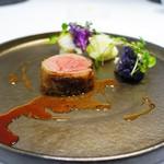 Élan.MIYAMOTO - ニュージーランド産仔羊のローストと東京小野菜