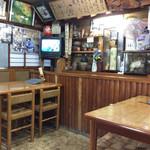 福寿美手打生そば処 - 店内風景。何となく歴史を感じる。