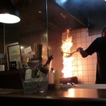 吉法師 - ファイアー♪ モモの炙り焼きです。