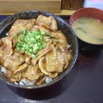 白樺 - 豚バラ丼大900円ライス大盛り