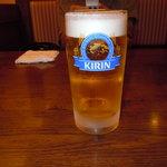 太郎兵衛寿司 - ビールで乾杯!