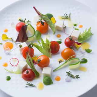 沖縄お野菜の前菜Chefスペシャルコース