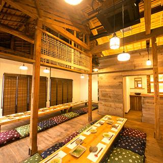 隠れ家の2階席、プライベートな団体宴会個室