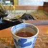 神社そば 村の下 - 料理写真:そば湯と猪口