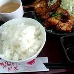 茶和 - 日替り定食『鳥胸肉の胡麻味噌照り焼き』¥600-