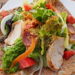 鏡池どんぐりハウス - 信州黄金シャモ&信州ハーブ鶏のりんご燻しガレット