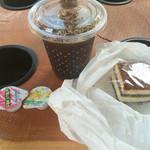 51156016 - ティラミスとアイスコーヒーをいただきました(^o^)