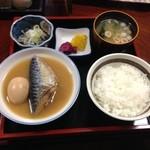 高尾食堂 - 日替わり定食(魚、鯖の味噌煮)