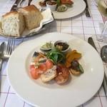 ル・プラ・プリュ - オードブル7種盛り合わせとパン