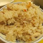 牧のうどん - 美味しいカシワご飯