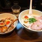 中華蕎麦 葛 - 出し蕎麦【醤油】 特上 & 葛流ローストポーク丼 ハーフサイズ
