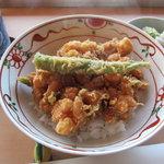 てんぷら 山の上 Roppongi - 小海老のかき揚天丼