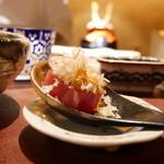 天ぷら 元吉 - 鰹と天かす