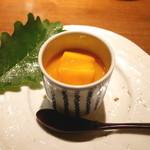 天ぷら 元吉 - フレッシュマンゴーと牛乳ソース
