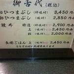 鰻 木屋 - 御舌代