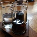 日本茶甘味処あずき - 蜜の白、黒、和三盆です♪。