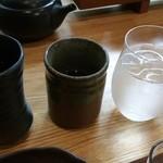 日本茶甘味処あずき - お茶も美味しかったです。