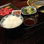 51187204 - ごはん・玉子スープ・キムチ・サラダ