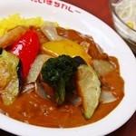 だいきちカレー - 揚げ野菜カレー(S)&野菜サラダ