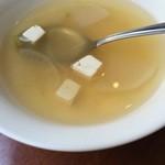 仕事馬 - スープも付きます。いつも薄味のスープですね。