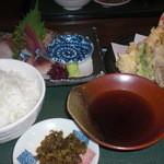 51194410 - お刺身と天ぷらの御膳