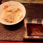 小料理 はかた伊達 - 牛肉と大根の「餃子」です。