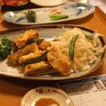 ひだまり - 揚物 (若竹と白魚の天ぷら)