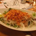 ひだまり - 向付 (新玉ねぎと桜海老のサラダ)