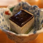 ひだまり - デザート (黒ゴマのケーキ)