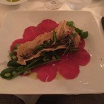 HOTEL CIPRIANI RESTAURANT - Beef carpaccio with asparagus and truffle oil