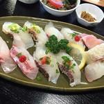 江口蓬莱館 - 真鯛にぎり