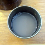 砂屋 - 三味割子そば十割1,180円そば湯