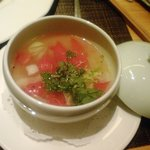 5122274 - トマトと鶏のスープ