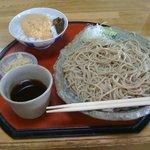 たぬき - せいろ蕎麦普通盛り(600円)小とろろご飯付き