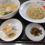 てんぐラーメン - 塩ラーメン&炒飯セット(880円)