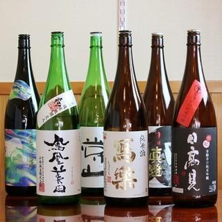 ◇魚貝を引き立てる「日本酒・焼酎」