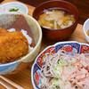 おいしい、ちよ鶴 - 料理写真:おろしそばとソースカツ丼のセット