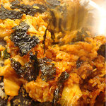 韓国料理 貝料理専門店  海家  - 韓国海苔と卵を入れてさらに混ぜる。