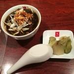 天一 - ご飯セットの牛肉汁(小)と搾菜