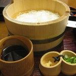 柿の葉寿し 柿吉 - 「柿吉点心」素麺と付け汁、薬味