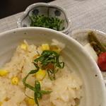 禅紫 - 16.05 トウモロコシの土鍋ご飯
