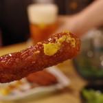 串カツ 青山七丁目 - 味噌は辛子が合う