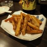 居酒屋「桜」 - リニューアル後のゴボウの天ぷらです。