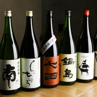 高知県の日本酒・焼酎をはじめとし、全国の美味しい地酒をご用意