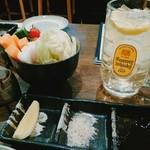はこや - 串はソースと塩とレモンで。